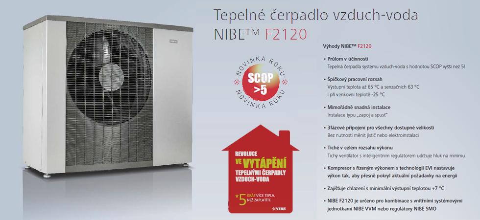 Revoluční tepelné čerpadlo vzduch-voda NIBE™ F2120